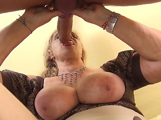 Matured with huge tits, crucial POV action with a monster dick