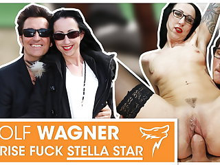 Stella Star white-headed boy with reference to & fucked in chair! WolfWagner.com