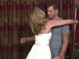 Stepmother Jodi West Fucks Young gentleman In Her Wedding Dress - JodiWest