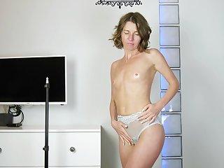 Natasha Polynesia has small tits but a huge desire to masturbate