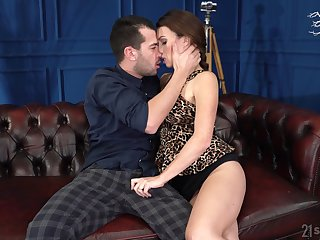 Sexy French bus Tiffany Doll gives a blowjob plus allows to penetrate sloppy pussy
