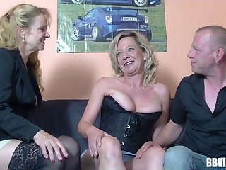 Inexpert German wife wanted to have a go group sex with her friends
