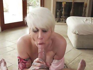 Pov aficionado from a hot short-haired blonde milf