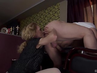 Hardcore pussy coupled with pain in the neck drilling between a peculiar guy coupled with a dirty daughter