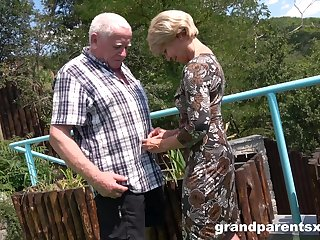 Premium mature shares old man's dick with younger niece