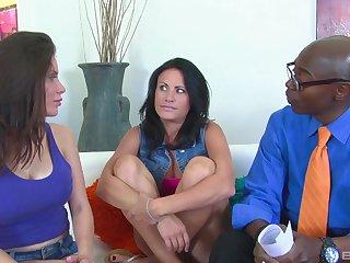 Interracial FFM threesome there horny Alexa Nicole and Ashli Ames