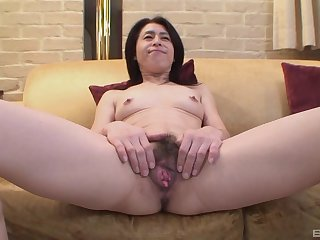 Amateur video of dirty Japanese mature Nobuko Tachikawa having carnal knowledge