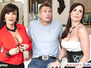 Lord it over brunette MILFs Lisa Ann and Kendra Lust wanna be nailed sermonizer